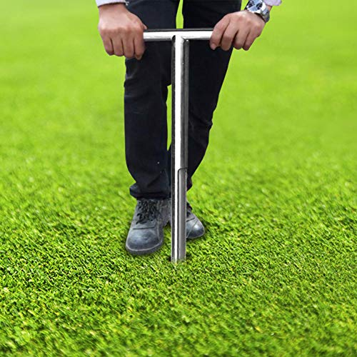 DesirePath Soil Sampler Probe 20 Inch Stainless Steel Tubular T-Style Soil Test Kits Satisfying The Sampling Depth of Agriculture Forest and Golf Course Garden Kit