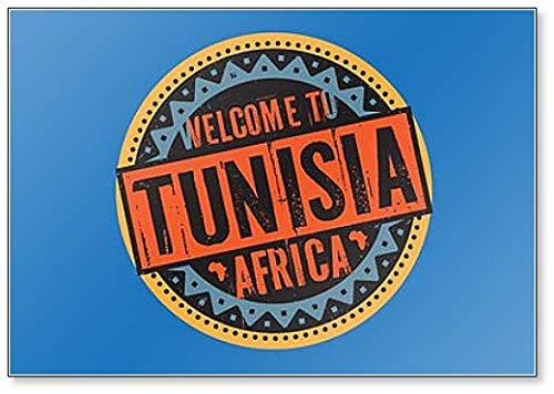 Kühlschrankmagnet, Motiv: Welcome to Tunesien, Afrika, Grudge Style