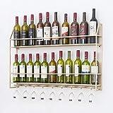 Armarios para vino Vinoteca de pared Montaje en la pared hierro Botellero Expositor de botellas de vino Sala de estar Bar Decoración nórdica de la pared Estante de almacenamiento Estante de copas al r