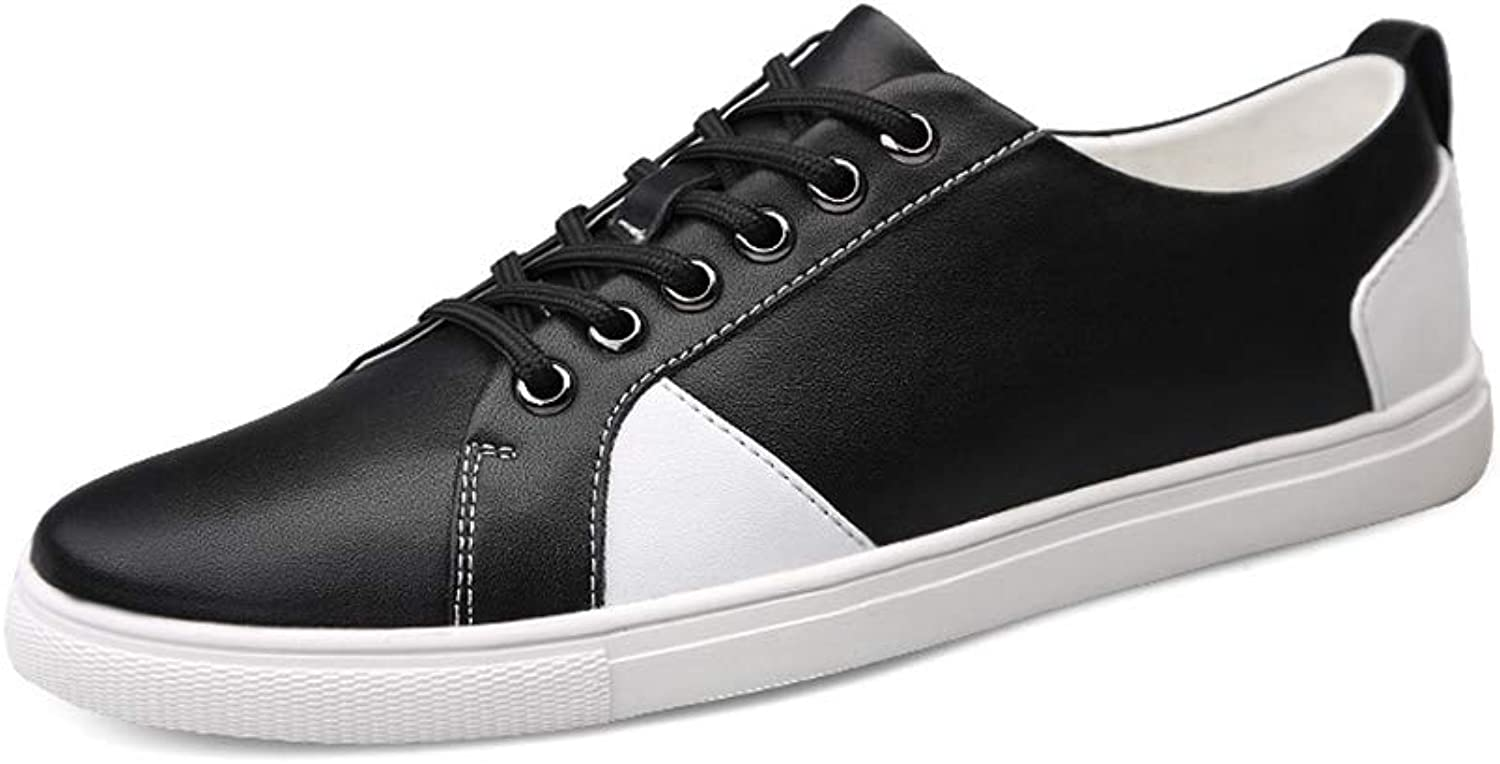 Men's Casual shoes Breathable British style Sports shoes Front tie Low-top shoes Round head Gymnastics shoes,Black,42