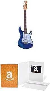 Yamaha Pacifica Series PAC012 Electric Guitar; Metallic Blue with $25 Amazon.com Gift Card