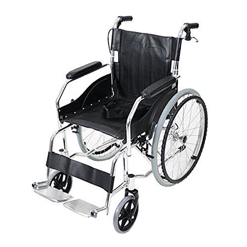 車椅子 アルミ合金製 黒 約11kg TAISコード取得済 軽量 折り畳み 自走介助兼用 介助ブレーキ付き 携帯バッグ付き ノーパンクタイヤ 自走用車椅子 自走式車椅子 折りたたみ コンパクト 自走用 介助用 自走式 自走 介助 車椅子 車イス 車いす ブ