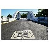 artboxONE Poster 30x20 cm Reise Route 66 Kansas