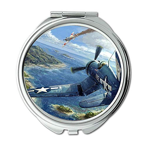 Yanteng Weltkrieg Flugzeuge, Spiegel, Compact Mirror, d Kämpfer Revolution, Taschenspiegel, Tragbare Spiegel