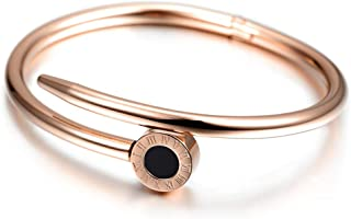 Women's Love Bangle Bracelet – Rose Gold Color