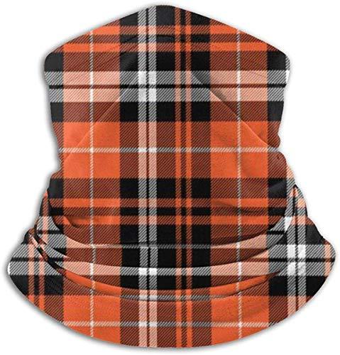 Amanda Horatio Kürbis Herbst Plaid Orange Kaltes Wetter Hals Gaiter Fleece Winter Ski Face Schal Maske für Männer Frauen Einheitsgröße