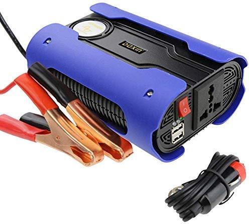 500 W omvormer vermogen, gelijkstroom 12 V naar 220 V AC zuivere sinusgolf, met 2 USB-laadpoorten, stroomvoorziening voor stopcontact en sigarettenaansteker.