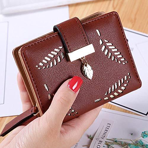 Women Wallet Simple Retro Rivets Short Wallet Coin Purse Card Holders Handbag for Girls Purse Small Wallets Lady -D-4