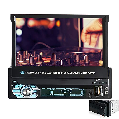 NBSMN Autoradio Bildschirm Verkleinern 12V Einspindel-Universal-MP5-Player GPS-Navigationsmaschine Berührungssensitiver Bildschirm FM Radio Eingebautes Bluetooth + Mikrofon