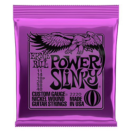 Cordes pour guitare électrique Ernie Ball Power Slinky Nickel Wauge - Calibre 11-48