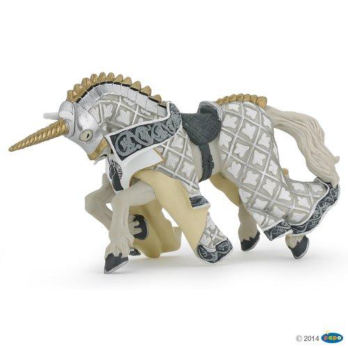 Medioevo Riproduzione in scala PVC Cavallo del Maestro d'armi dell'Unicorno