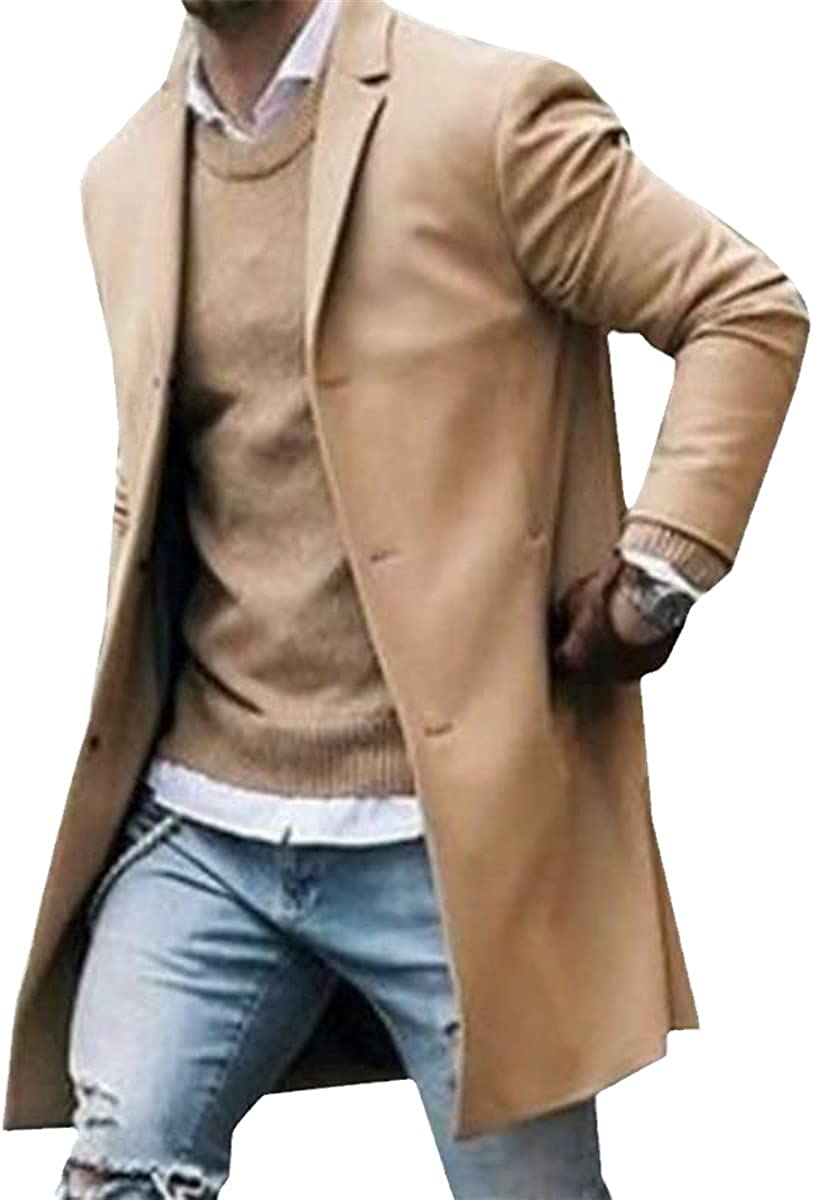 Men's Business Jacket Spring And Autumn Windbreaker Button Fashion Jacket Jacket Windbreaker
