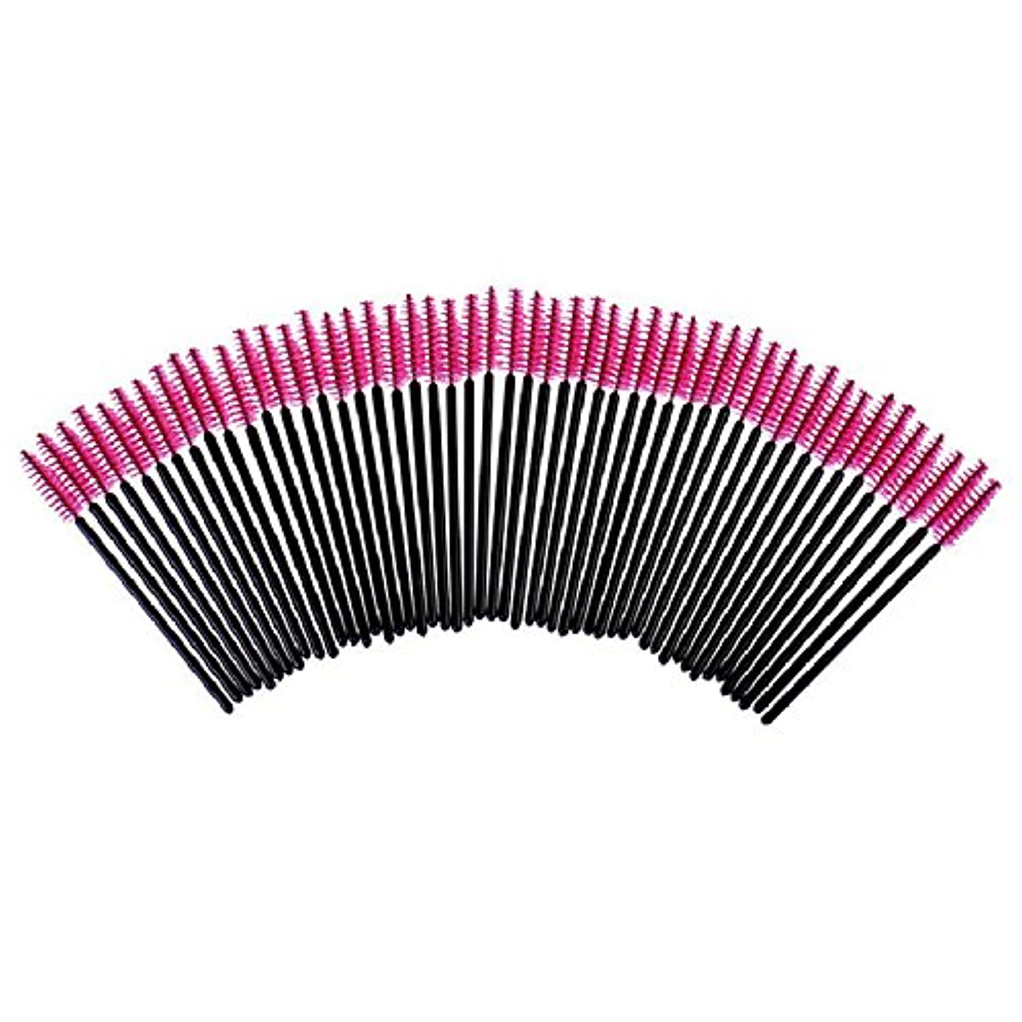より良い狂ったアベニューRuier-tong アイラッシュスクリューブラシ まつげブラシ 使い捨て マスカラブラシ アイブロウブラシ スクリューコーム 睫毛ブラシ 眉毛ブラシ メイクアップブラシセット まつ毛エクステ専用 使いやすい 化粧用品 高級繊維 100本 全4色(ローズレッド)