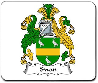 Swan Family Crest Coat of Arms Mouse Pad