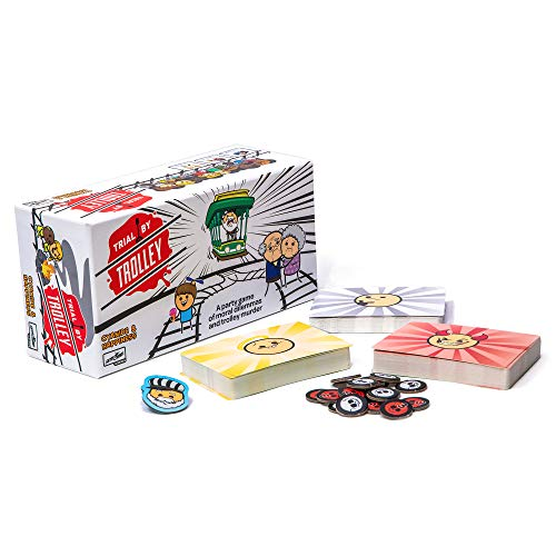 Trial by Trolley: an Adult Card Game of Moral Dilemmas and Murder   Party Game by Skybound Games and Cyanide and Happiness   312 Players Ages 18 and Up
