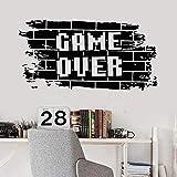 Pared de vinilo de ladrillo Juego para adolescentes Sala de juegos Videojuego Decoración para el hogar Puerta Ventana Mural de pared