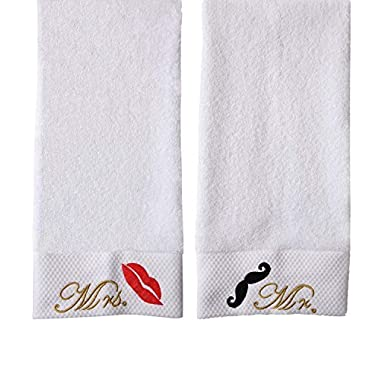 NUOMIZI Luxury Bathroom Large Bath Towels 100 % Cotton Mrs and Mr Bath Sheet with Maximum Softness and Absorbencym (Bath Towel 32x64 Inches, Mr. & Mrs.)
