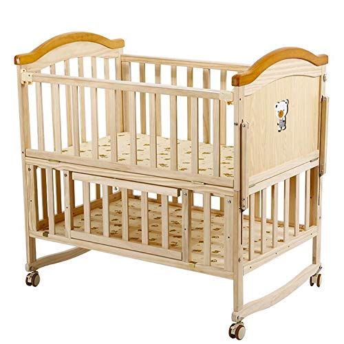 Why Should You Buy XY Crib Comfortable Crib Pine Baby Bed Can Extend Kids Bed Rocking Baby Bed with ...