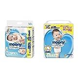 【セット買い】【Amazon.co.jp 限定】ムーニー テープ 新生児(お誕生~5000g) エアフィット 111枚 & ムーニーマン パンツ M つかまり立ち(6~11kg) エアフィット 70枚