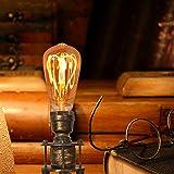 Decoluce Vintage Tripod Floor Lamp,Nautical Teatre Retro Spotlight,Industrial Decor Wooden...