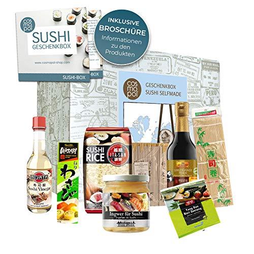 Sushi Box Asiatisches Geschenkset | tolles Geschenk für Sushifans Genießer | Sushi selber machen | Geburtstagsgeschenk Weihnachtsgeschenk