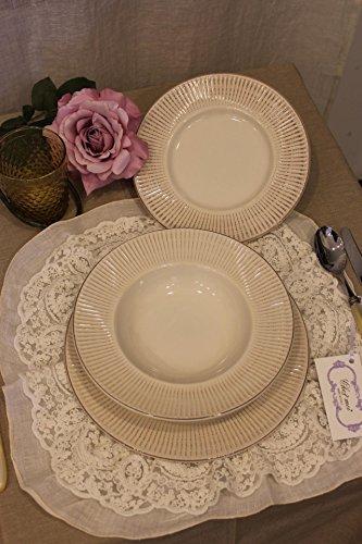 Blanc Mariclò - Servicio de platos Shabby Chic de seis plazas