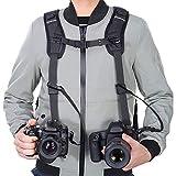 Tracolla doppia fotocamera imbracatura doppia fotocamera cinghia da polso e di sicurezza c...