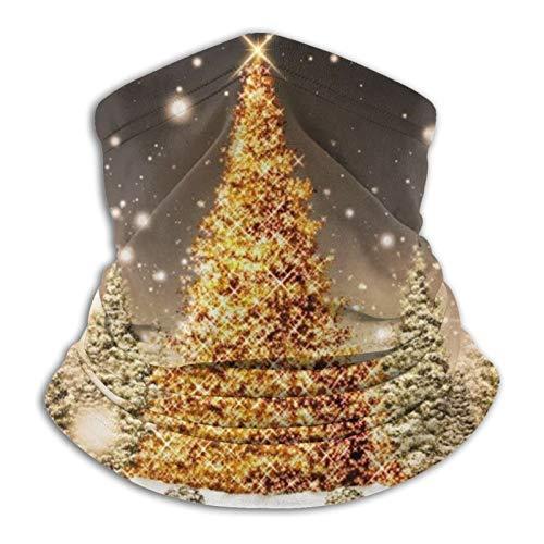 Yuximsp Multifunction Mask Shiny Christmas Tree Bandanas Face Mask Neck Gaiter Washable Face Covering Multifunctional Headwear Seamless Breathable Dust Mask For Outdoors
