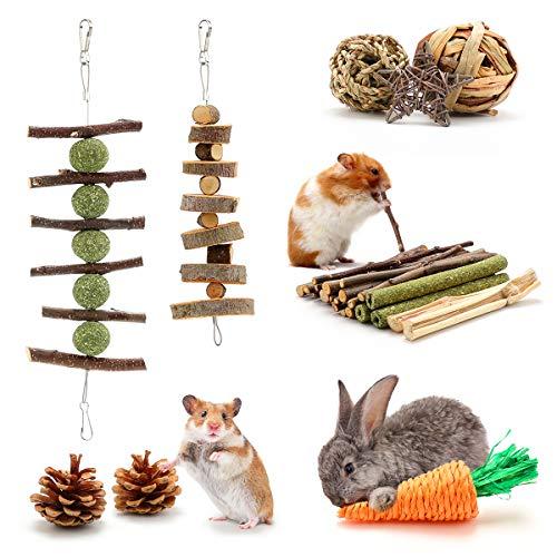 Mengxin Naturel Jouets pour Petits Animaux à Mâcher...