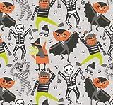 Stoff Halloween - Meterware 50 cm x 110 cm - von Blend -
