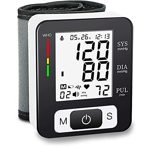 MMIZOO Digital Blood Pressure Monitors Fully Automatic Wrist Blood Pressure Monitor with Wristband Automatic Wrist Electronic Blood Pressure Monitor...