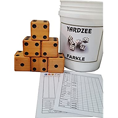 YARDZEE FARKLE Huge Big Giant Outdoor Yard Dice Game (Bucket & Lid)
