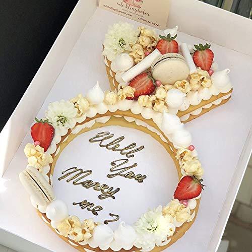 Diamond Ring Shape Cake Tins Molds Creative Cake Making Cutting Mould Cake Fillings Layered Baking Mold For Wedding Birthday Anniversary Valentine Christmas