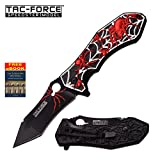 Tac-Force Black Widow Spider Red Spring Assist Assisted Knife Knives #898BR + Free eBook by OnlyUS