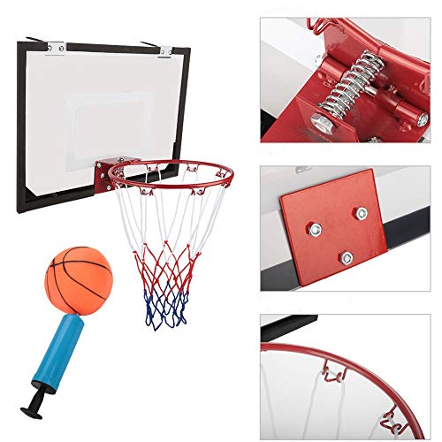 Indoor An der Wand befestigter Basketball-System Basketballkorb Basketballboard mit Pump und Basketb EBTOOLS