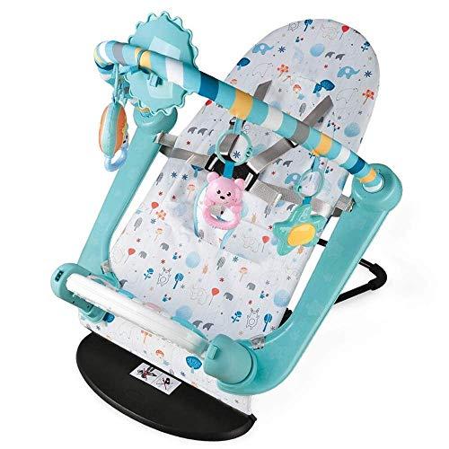 Home Equipment Baby Play Piano Gym Silla mecedora para bebé Piano de pie Estante plegable para ejercicios Manta de juego para bebés Ajuste de 4 engranajes para bebés de 0 a 3 años (Color: Azul Tama