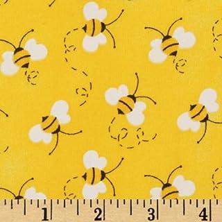 پارچه های سنتی Charms Bees پارچه ای ، زرد ، پارچه ای توسط حیاط