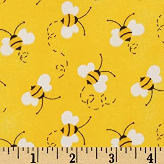 Fabric Traditions Charms Bees Fabric, Yellow, Fabric By The Yard