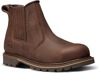 V12 V1231 Rawhide Full Grain Leather Safety Dealer Boot, Size 09, Brown