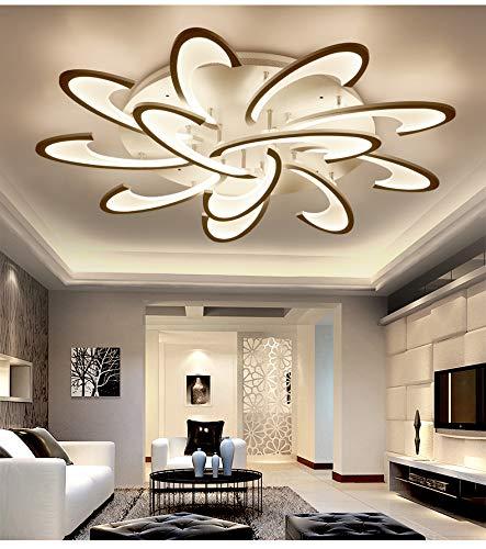 2127-12X LED Deckenleuchte mit Fernbedienung Lichtfarbe/Helligkeit einstellbar Acryl-Schirm weiß lackierter Metallrahmen Modernes Design Energieeffizienzklasse: A+ Modern (2127-12X)