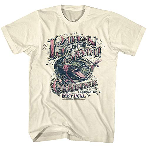 Creedence Clearwater Revival Born On The Bayou Men's T Shirt Rock Band Concert Tee