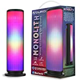 Aduro LED Bluetooth Speaker with Pulsating Lights, Wireless Color Changing Portable Outdoor Party Tower Speaker Universal
