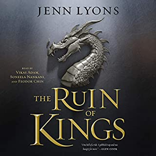 The Ruin of Kings                   Auteur(s):                                                                                                                                 Jenn Lyons                               Narrateur(s):                                                                                                                                 Feodor Chin,                                                                                        Vikas Adam,                                                                                        Soneela Nankani                      Durée: 27 h et 15 min     8 évaluations     Au global 3,9
