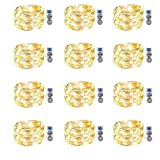 Best Lights With Timers - 12 Pack Fairy Lights Battery Operated Waterproof Led Review
