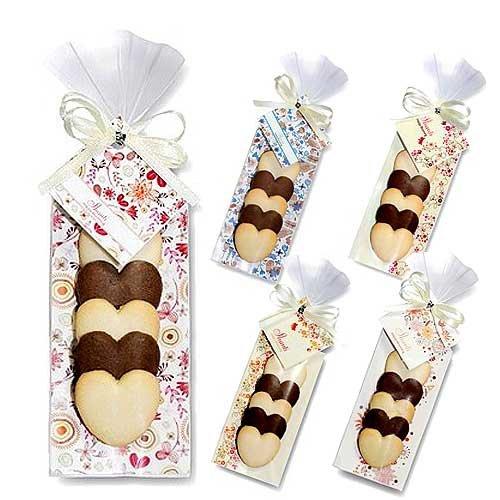 結婚式 プチギフト お菓子 バレンタイン ホワイトデーばらまきギフト『HH シャンティー(ハートクッキー)1個』 お礼 会社 業務用 大量 販促 (●150個セット)