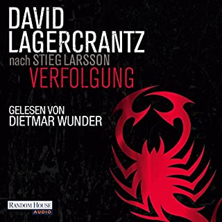 Verfolgung     Millennium 5              Autor:                                                                                                                                 David Lagercrantz                               Sprecher:                                                                                                                                 Dietmar Wunder                      Spieldauer: 12 Std. und 25 Min.     2.008 Bewertungen     Gesamt 4,4