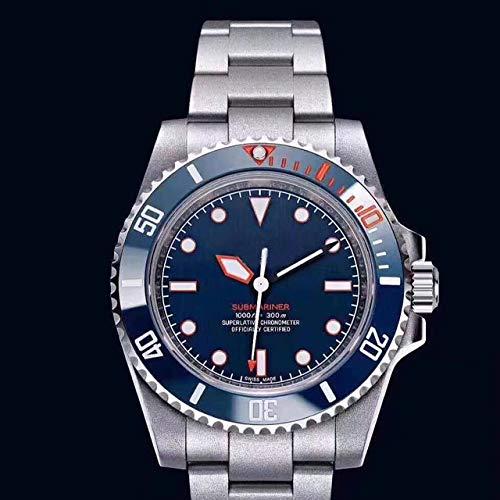Männer automatische mechanische Uhren schwarz blau Keramik Lünette Crystal Sapphire Sport Oyster Armband blau
