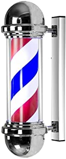 71Cm Outdoor Rotating Barber Pole Led Light,Wall-Mounted Rotating Salon Sign Light Classic Style Hair Salon Barber Shop Op...