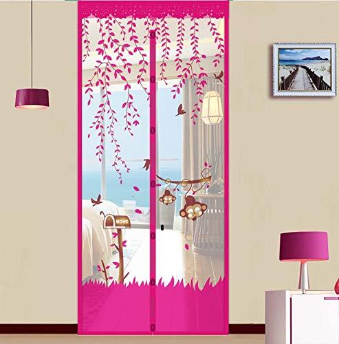 N / A Summer Home Malla de Gasa Neta antimosquitos Mosca Cortina imán de Cierre automático Puerta de Pantalla Suave Puerta de la Cortina de la Cocina Pantalla A4 W100xH210