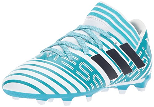 adidas Kids Nemeziz Messi 17.3 Fg J Soccer-Shoes, WHITE/LEGEND INK/ENERGY BLUE, 10.5K Little Kid